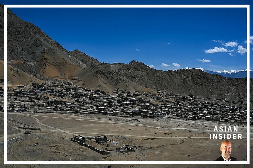 A general view shows Leh, the joint capital of the union territory of Ladakh, on June 27, 2020.