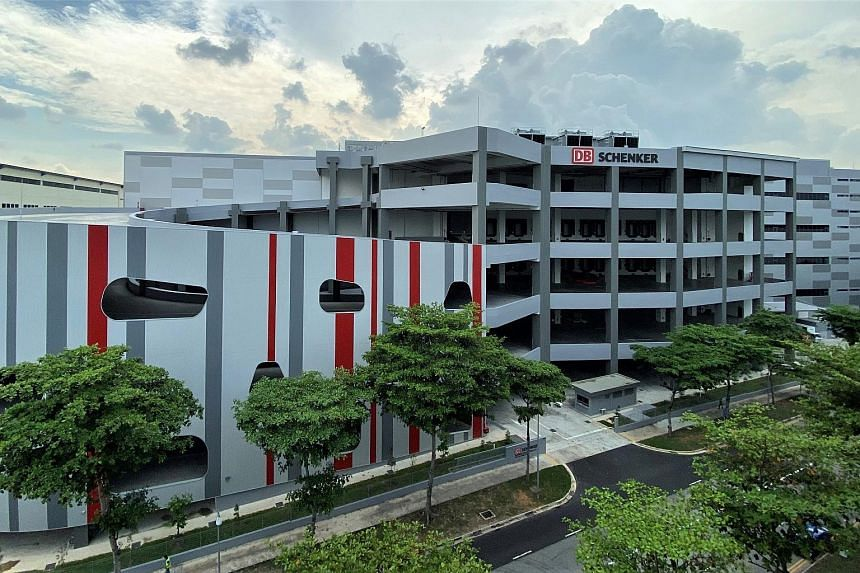 DB Schenker's new Red Lion facility in the Airport Logistics Park at Changi. DB Scheker said it would be adding 251 positions in Singapore as part of its expansion plans in the Republic.
