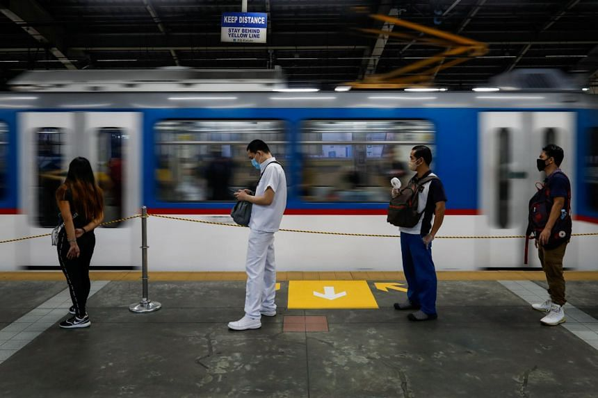 The one metre physical distancing rule in trains can be gradually eased to a third of a metre as long as commuters wear face masks and face shields.