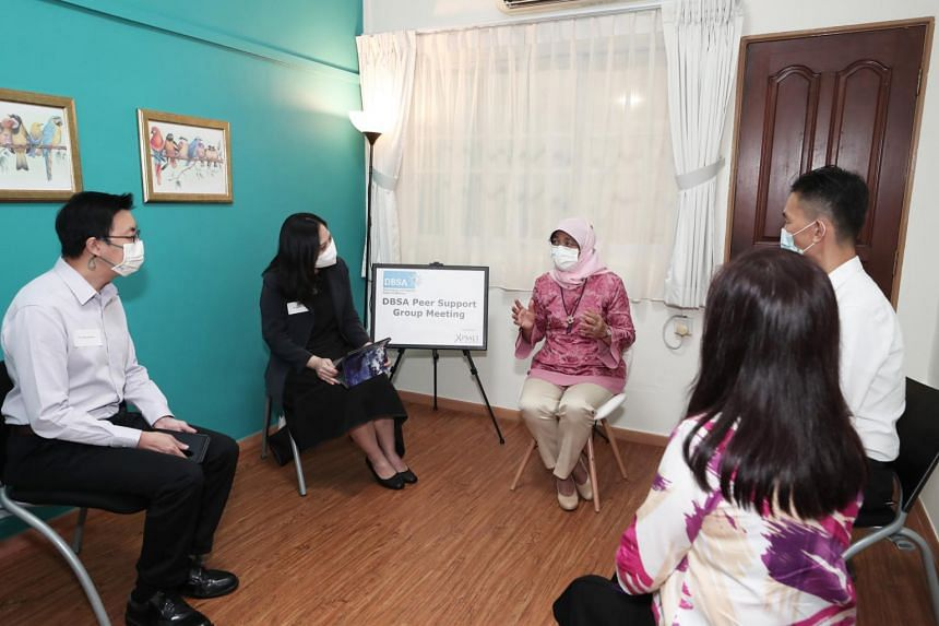 President Halimah Yacob visited PSALT Care and officiated the opening of its activity hub, Betsy's Place, on Sept 11, 2020.