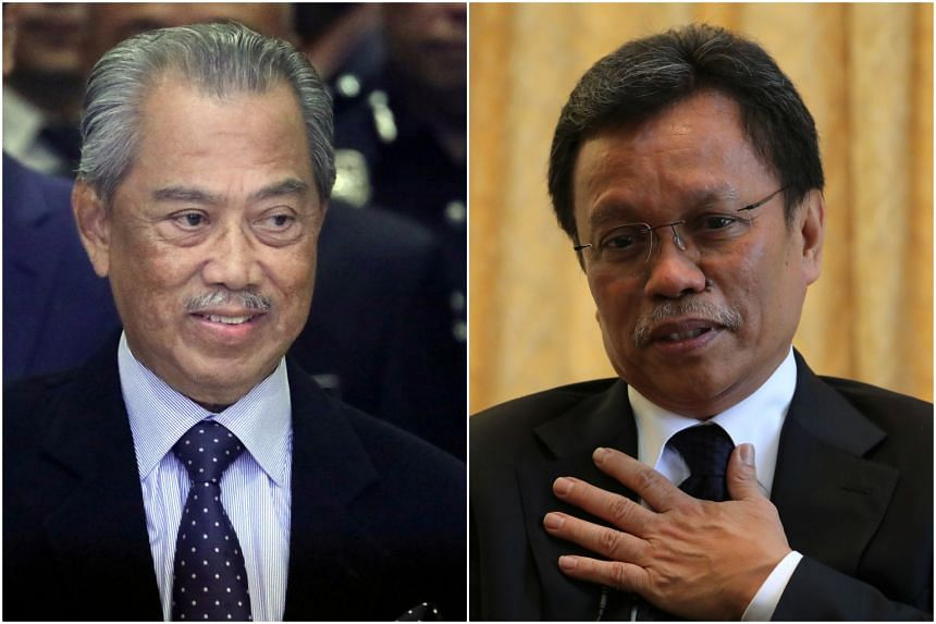 Muhyiddin Yassin (left) is secure as head of Perikatan Nasional where the opposition could be led by Shafie Apdal.