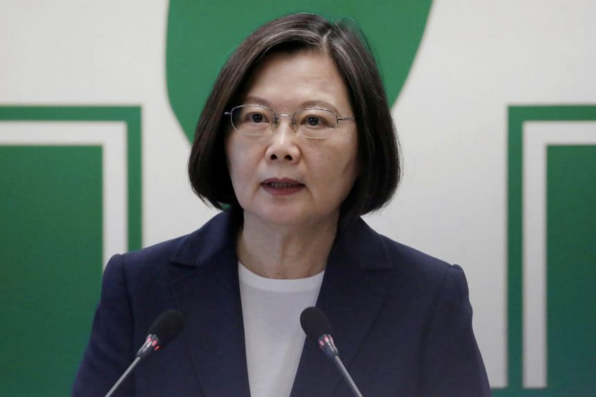 Ms Tsai urged the troops to be steadfast in their defence of the island.
