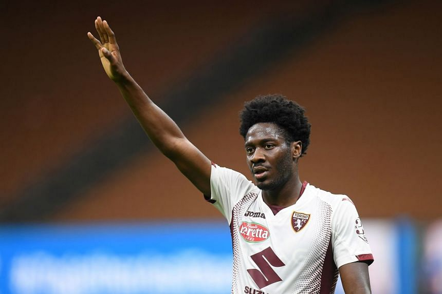 Ola Aina in action for Torino in July 2020.