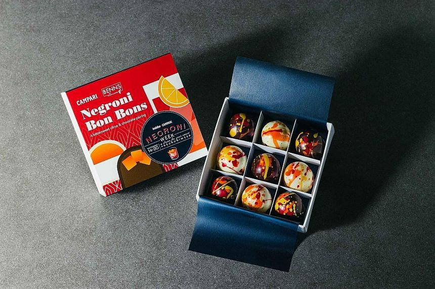 Campari has partnered chocolatier Benns Ethicoa to create a special box of Negroni Bon Bons to raise funds for charity.