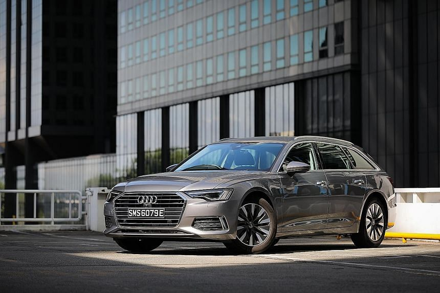 The Audi A6 Avant 2.0 is relatively fuel-efficient, thanks to its 12-volt mild hybrid system and its B-cycle engine.