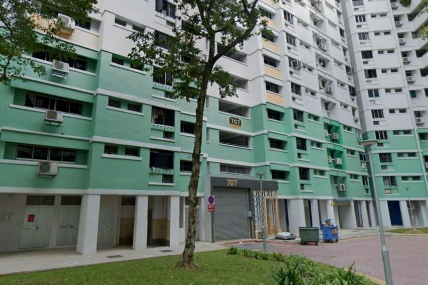 Police encountered five youths behaving suspiciously at the void deck of Block 707 in Choa Chu Kang Street 53.