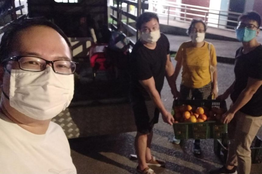 Freegan Daniel Tay organised a night outing with three friends to gather fruits used in prayer offerings.