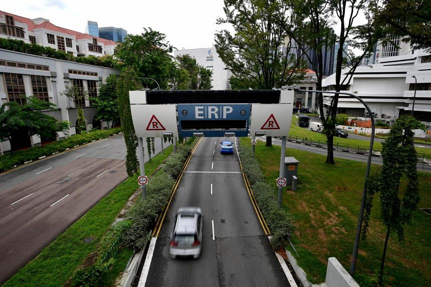 An Electronic Road Pricing (ERP) gantry near State Courts on Sept 3, 2020.