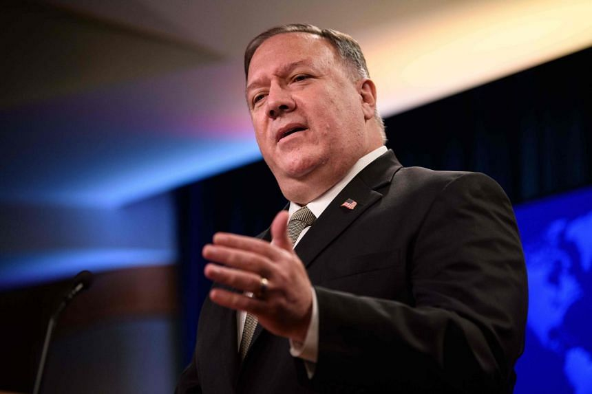 US Secretary of State Mike Pompeo speaks during his weekly briefing at the State Department on Sept 2, 2020.