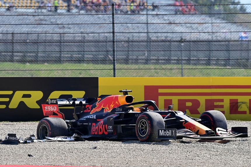 The crash resulted in Max Verstappen flying off into the gravel after a tangle with several midfield runners.
