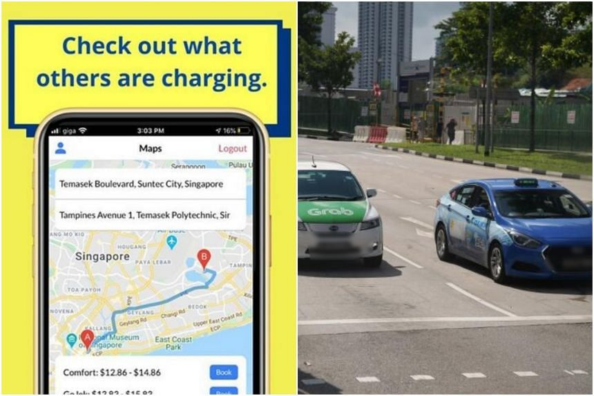 Spur is an aggregator app that lists fare ranges of the three main providers here: ComfortDelGro, Grab and Gojek.