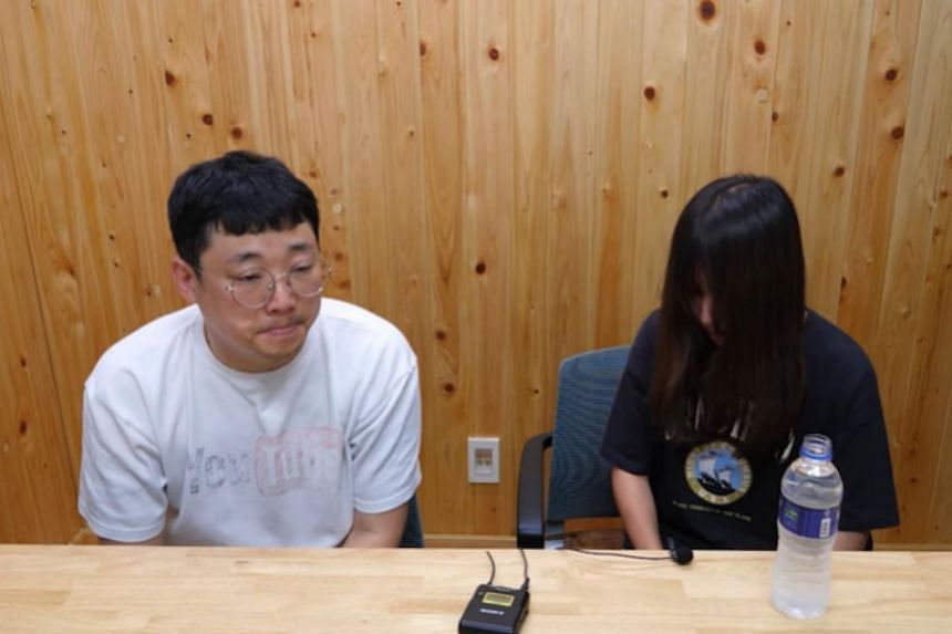 YouTuber Cham PD (left) speaks to Tzuyang, who was one of several South Korean YouTubers accused of hiding product placements in their videos.