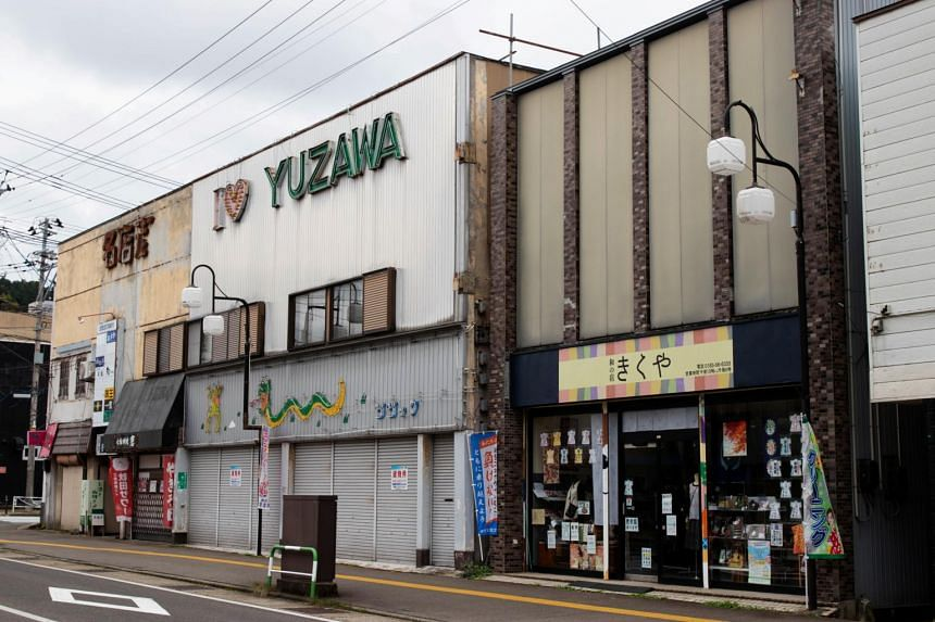 Half the residents in the remote part of Yuzawa where Yoshihide Suga grew up are over 60.