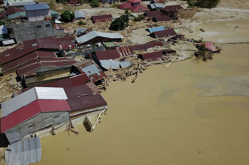 Floods in North Sumatra caused damage to public facilities and forcing hundreds of residents from their homes.