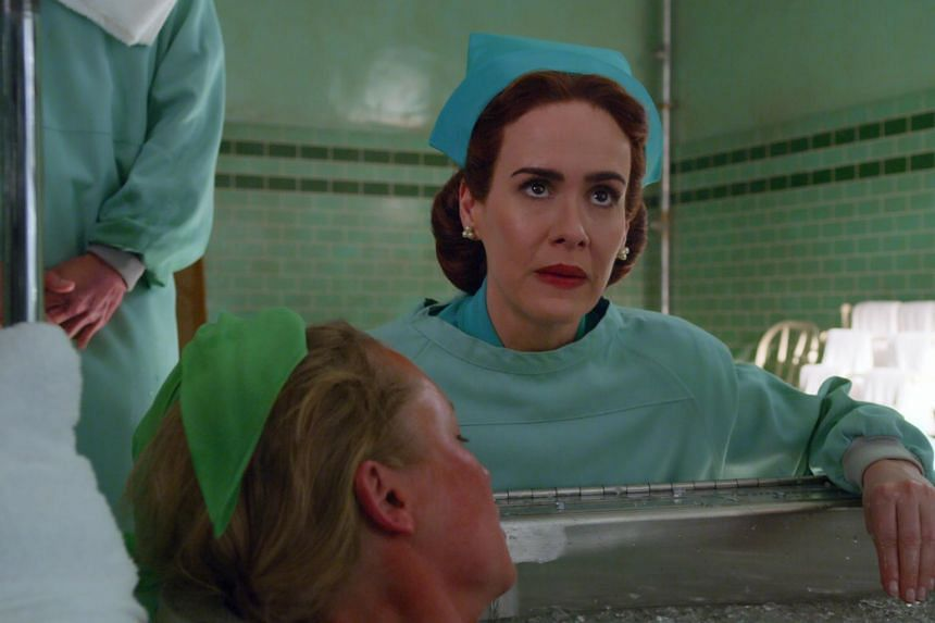 A television still from Ratched starring Sarah Paulson.