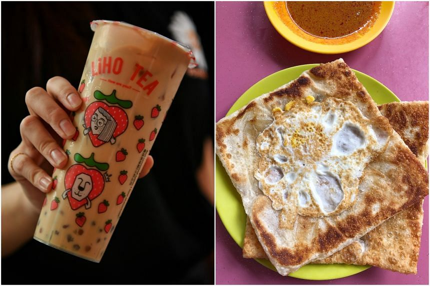 Bubble tea and prata were two of the most popular food items ordered on Deliveroo during the circuit-breaker period.