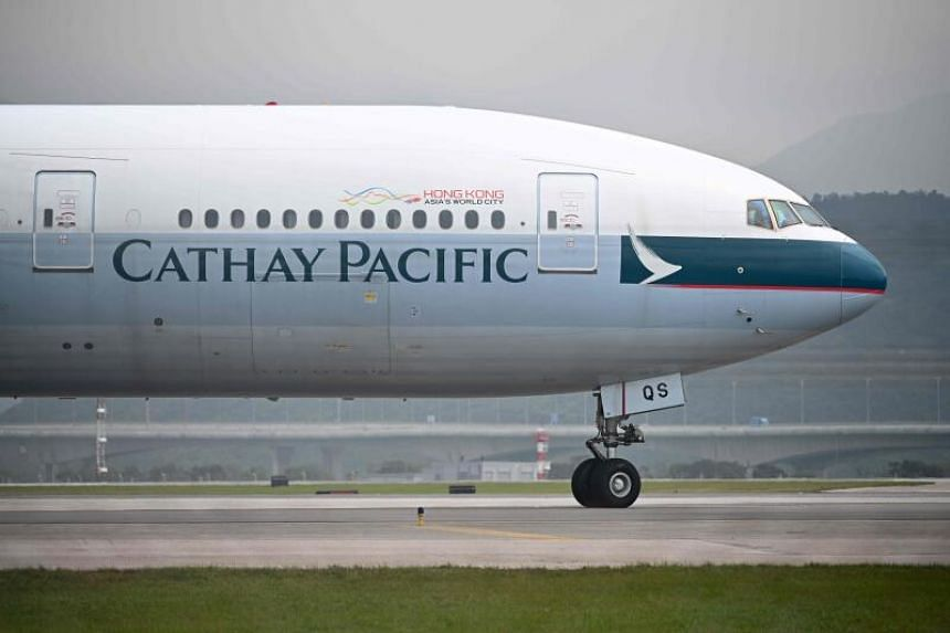 Cathay reported a first-half net loss of HK$9.9 billion last month.