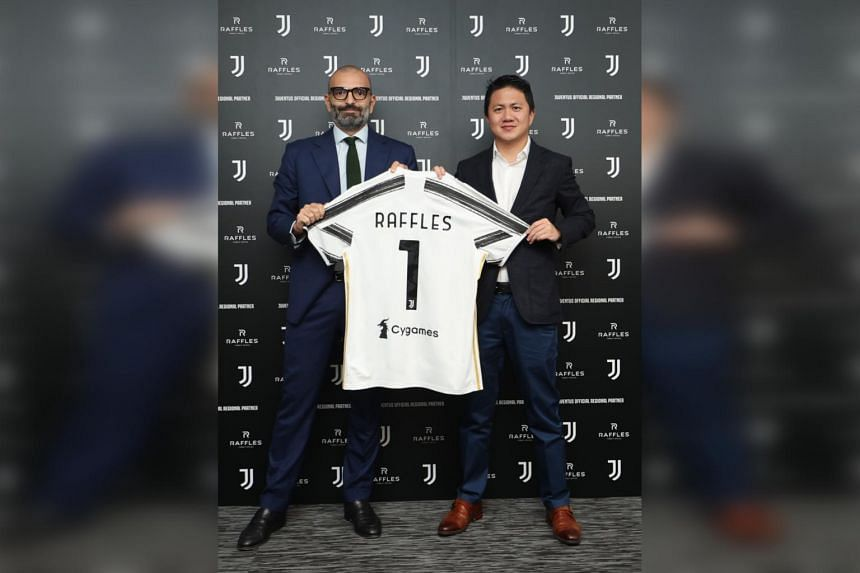 Juventus Apac managing director Federico Palomba (left) and Raffles Family Office founder and CEO Chiman Kwan announced a partnership that sees RFO becoming the club's official regional partner in Asia.
