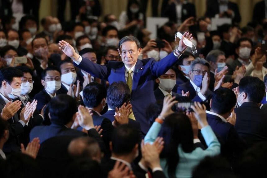 Japan's Chief Cabinet Secretary Yoshihide Suga won comfortably in a ruling party election on Sept 14, 2020.