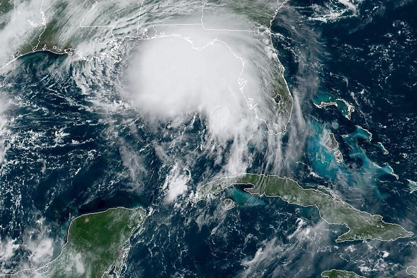 Hurricane Sally, the 18th named storm in the Atlantic this year, off the Gulf of Mexico on Sept 14, 2020.