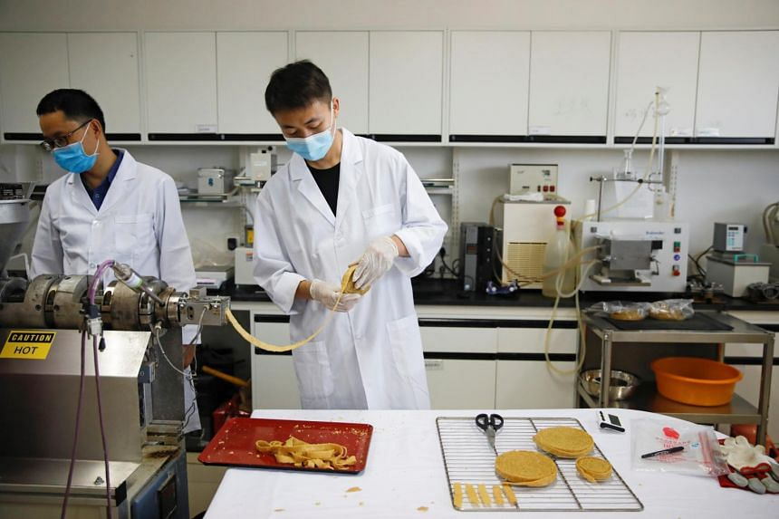 Zhenmeat's products include plant-based meatballs, beef patty, steak, pork loin, crayfish and dumplings.