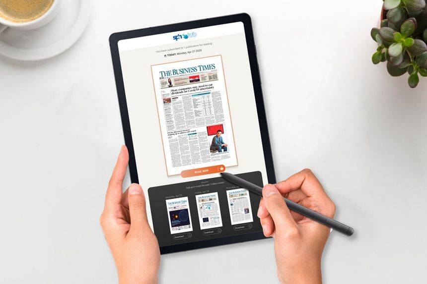 Readers can now get digital copies of the Business Times on brand new Samsung tablets.