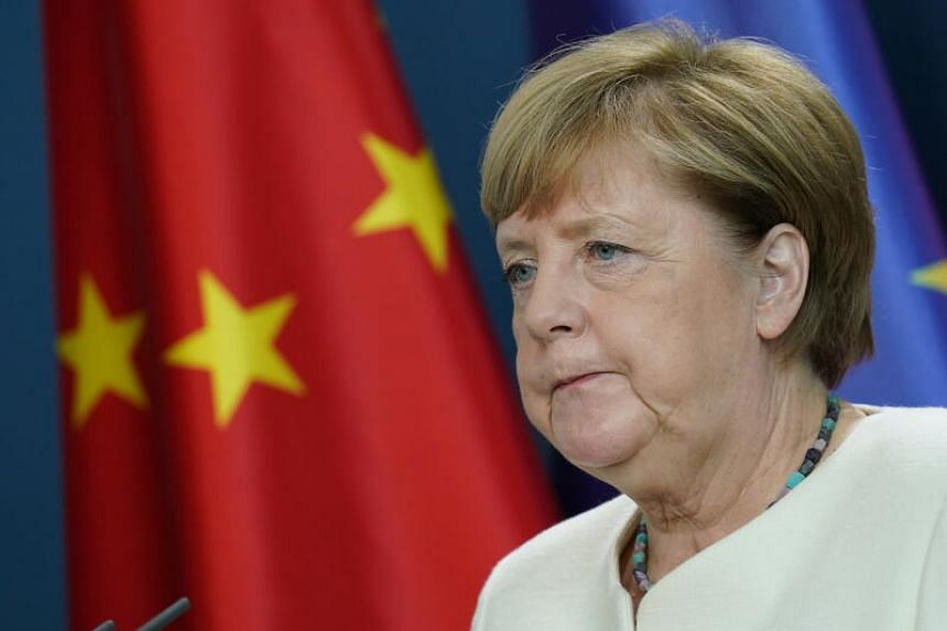 German Chancellor Angela Merkel joined other EU leaders to deliver a tough-talking message to Beijing.