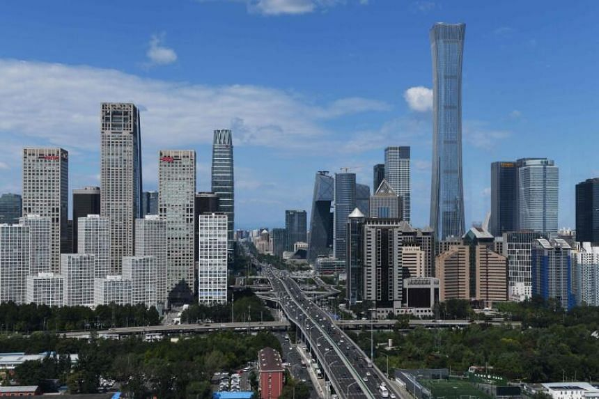 Beijing's central business district. China is the second-largest economy in the world.