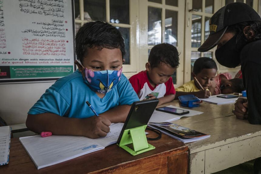 Millions of Indonesian students have been forced to learn remotely.