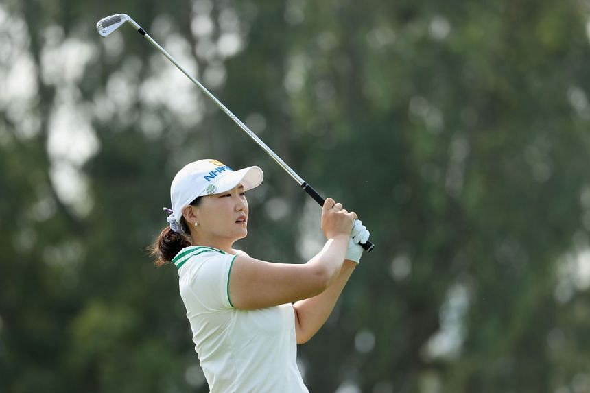 South Korea's Lee Mi-rim plays a tee shot on the fifth hole during the final round of the ANA Inspiration in the US on Sept 13, 2020.