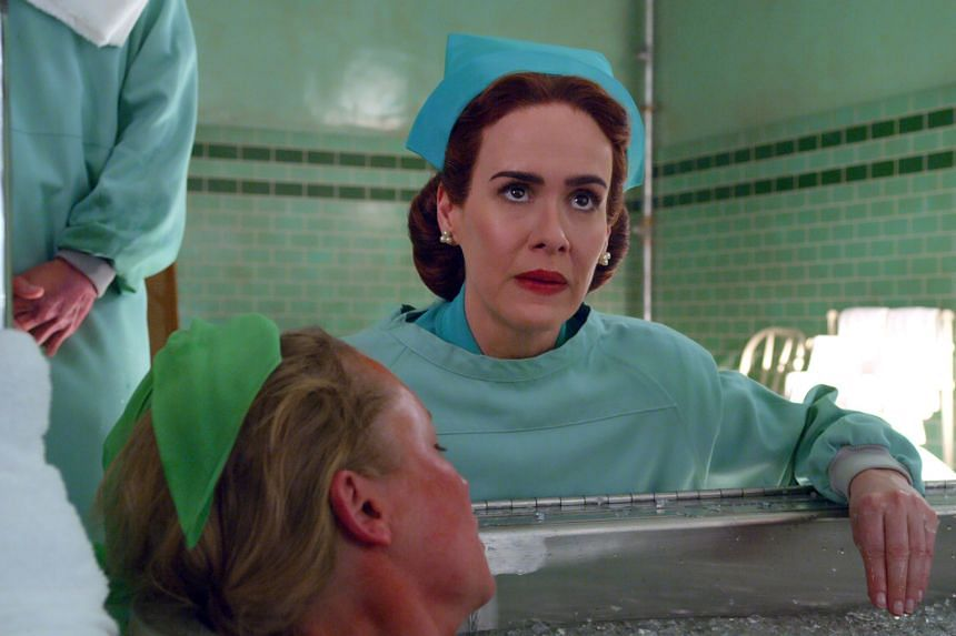Sarah Paulson as Ratched's title character, a nurse working at a psychiatric hospital that has begun troubling experiments on the human mind.