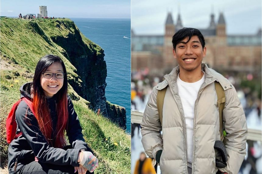 Singapore University of Technology and Design graduates Faith See, 22 (left), and Safafisalam Bohari Jaon, 24, both managed to secure places in graduate programmes before April.