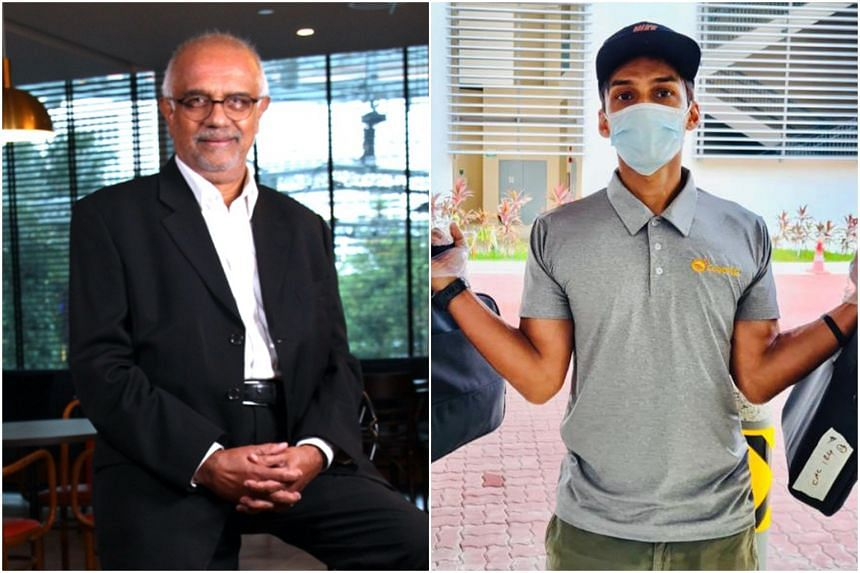 Former national sprinter U.K. Shyam (right) said he will not be contesting as part of the TeamSGP Athletics line-up led by lawyer Edmond Pereira (left).
