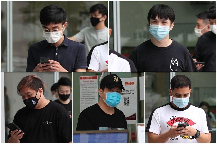 (Clockwise from top left) Alex Teo Han Yuan, Teo Wee Liang, Zane Lucas Quek, Joey Seng Koon Hwee and Nicholas Tan Zhi Qin.