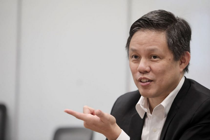 Mr Chan (above, in a file photo) said the Covid-19 pandemic has underlined the importance of digital connectivity, and hastened the rise of the digital economy.