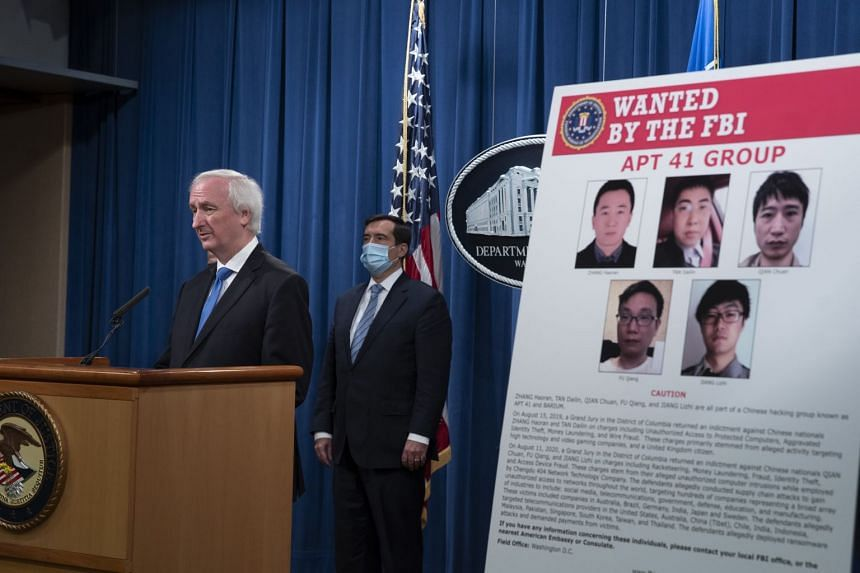Jeffrey Rosen, deputy attorney-general, speaks during a news conference at the Department of Justice, Sept 16, 2020.