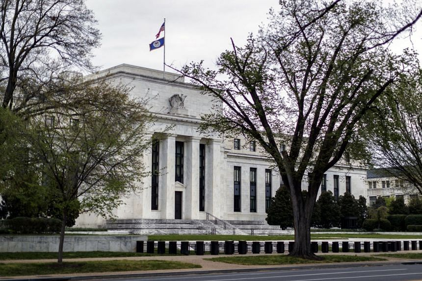 The Federal Reserve building in Washington on April 12, 2020.