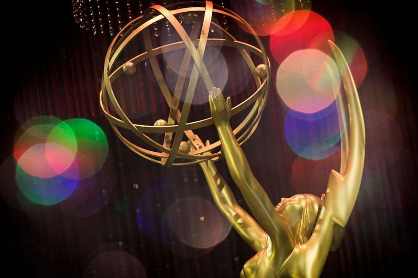 An Emmy Awards statue. Producers of the show are hoping to avoid the feel of a stilted Zoom call.