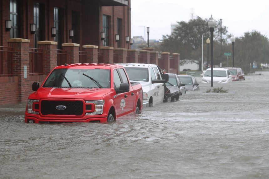 The coastal community of Pensacola, Florida, suffered up to 1.5m of flooding.