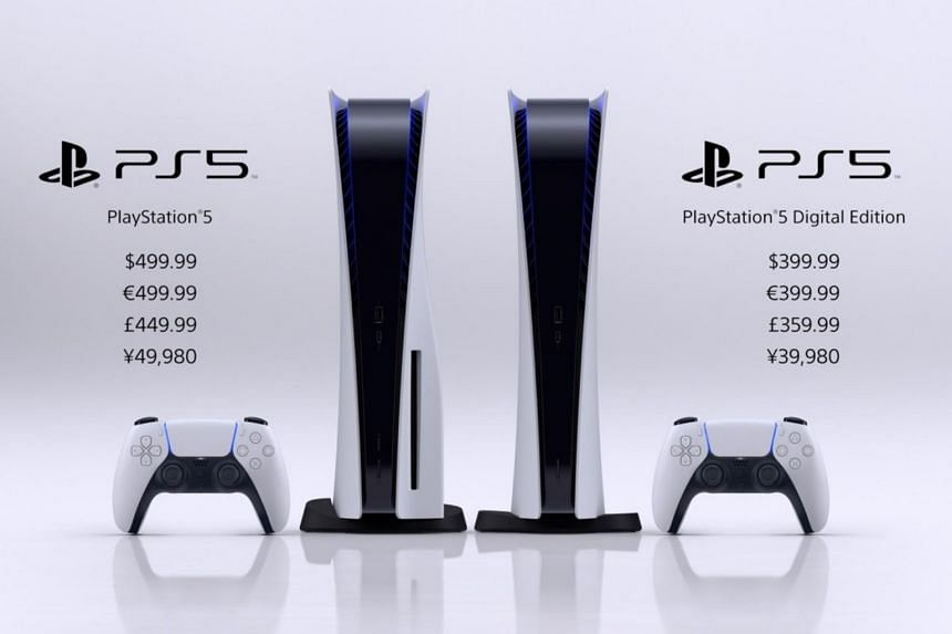 Sony's next-generation PlayStation 5 gaming console will cost US$499 and $399 respectively for the standard edition and the digital edition.