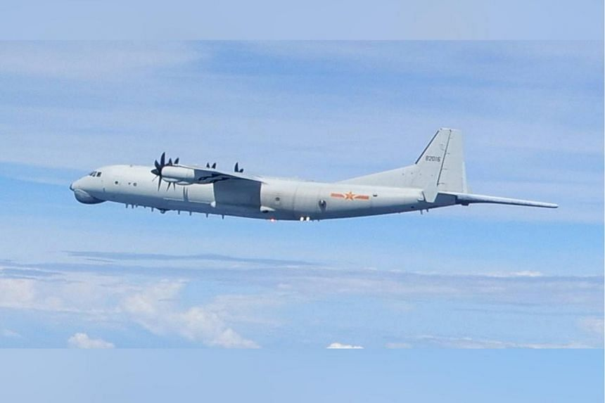 A photo released by Taiwan's Defence Ministry on Sept 10, 2020, shows a Chinese anti-submarine warfare aircraft.