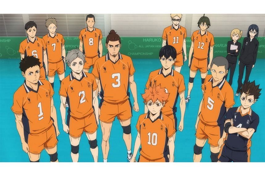 Exciting volleyball action from the Karasuno High School gang of Haikyu!! To The Top.