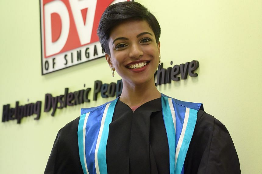 Ms Aisha Shaik was among 59 newly minted special needs educators to graduate from the Dyslexia Association of Singapore Academy yesterday. She is this year's valedictorian for her course.