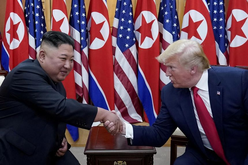 Mr Trump says his diplomacy is working as Mr Kim has not carried out any nuclear or long-range missile tests since 2017.