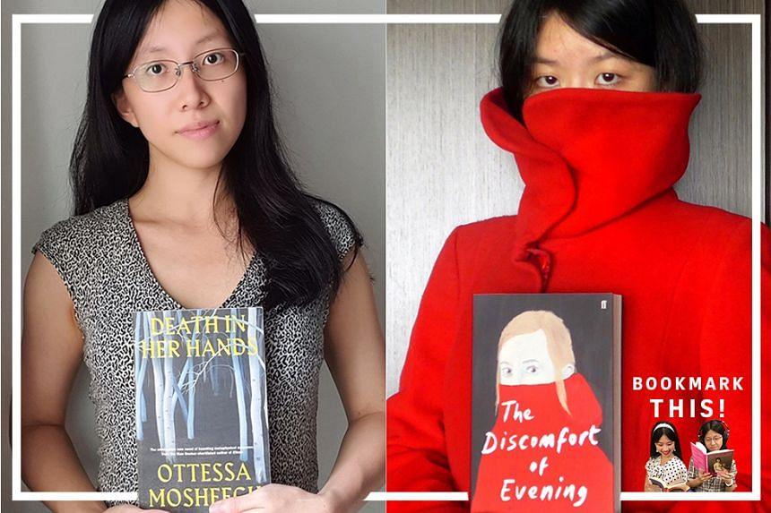 Journalists Toh Wen Li (left) and Olivia Ho talk about uncomfortable books like Death In Her Hands by Ottessa Moshfegh and The Discomfort Of Evening by Marieke Lucas Rijneveld in the latest episode of their podcast Bookmark This!