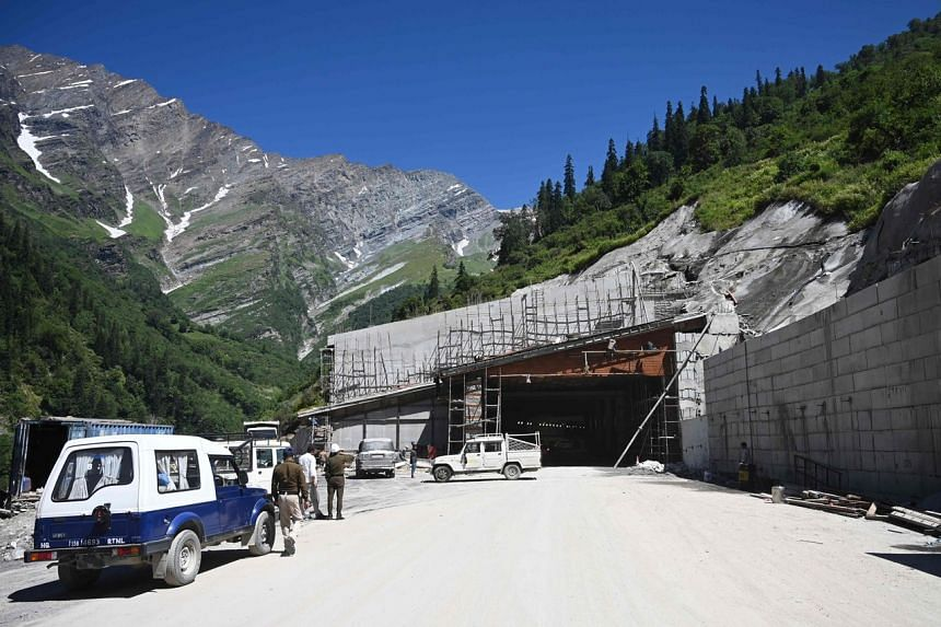 The tunnel provides an all-weather route for military convoys to avoid a 50km trudge through mountain passes.