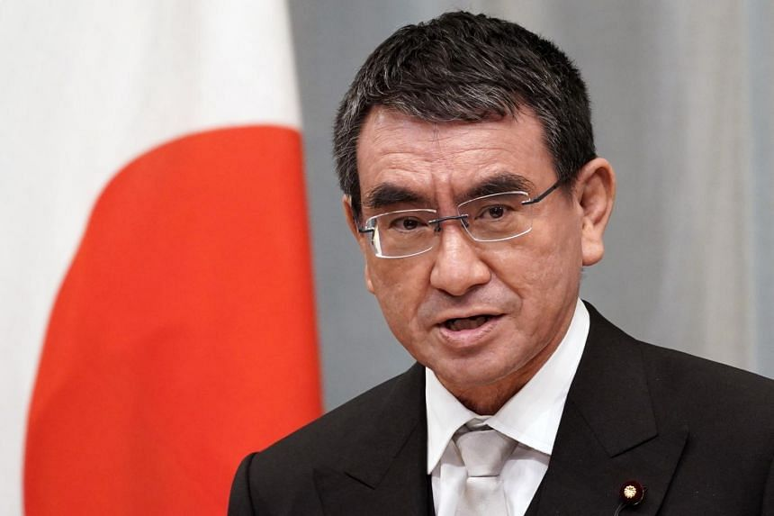 Mr Taro Kono said on Twitter that the digital complaints box had received more than 3,000 e-mails in just hours.