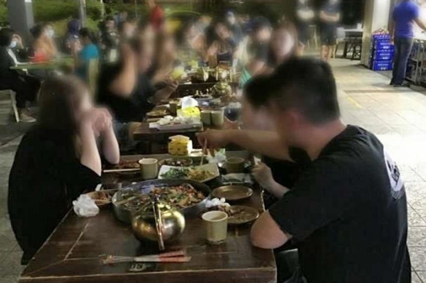 Patrons were found consuming beer concealed in teapots at Jiang Hu Xia Ke eatery at 11pm on Sept 12, 2020.