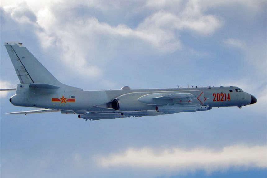A Xian H-6 strategic bomber, courtesy of Taiwan's Air Force, the Republic of China Air Force (ROCAF) on Sept 18, 2020.