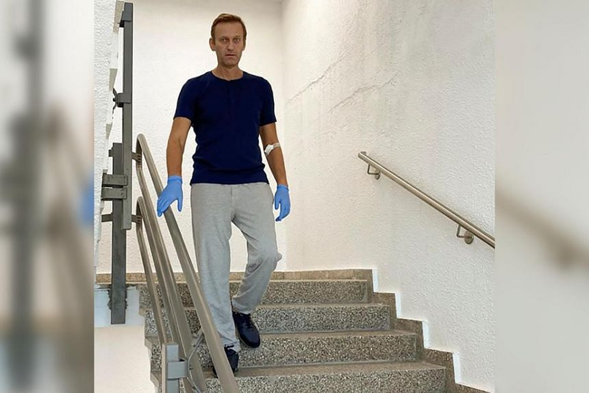 Mr Navalny said he still has difficulties climbing stairs because his legs tremble.